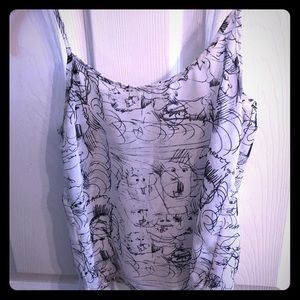 American apparel chiffon camisole shirt